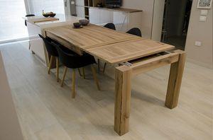Eva tavolo, Tavolo allungabile in legno massello