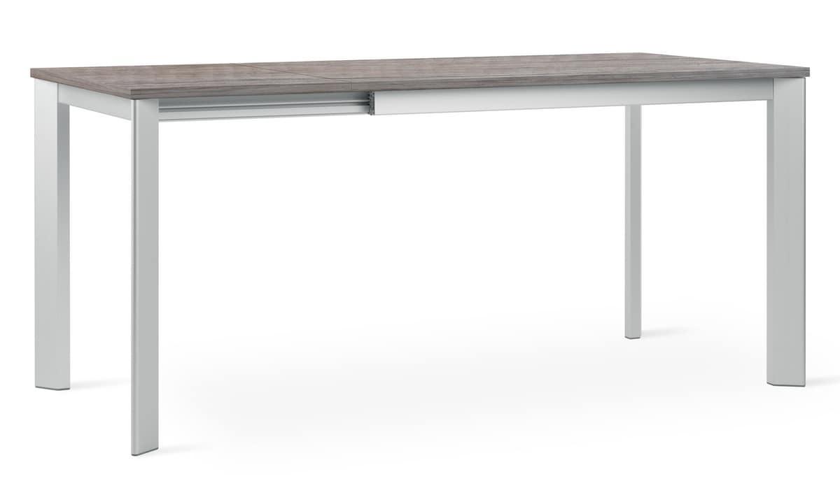 Tavolo allungabile con gambe in alluminio anodizzato for Tavoli estensibili