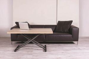 Geniale, Tavolino salvaspazio con rotelle, regolabile in altezza