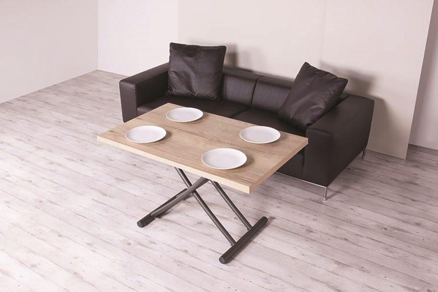 Tavolino salvaspazio con rotelle regolabile in altezza - Altezza tavoli da pranzo ...