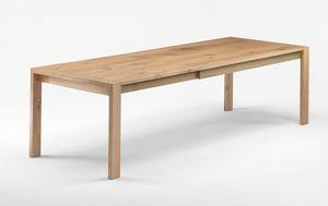 Gimmi, Tavolo in rovere massello, anche allungabile