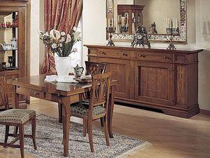 Giotto tavolo, Tavolo allungabile in legno, con cassetto