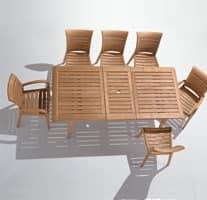 Madison tavolo allungabile, Tavolo rettangolare con prolunga per terrazza