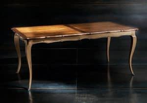 Museum Art. 81.101, Tavolo con allunga, con piano in noce anticato