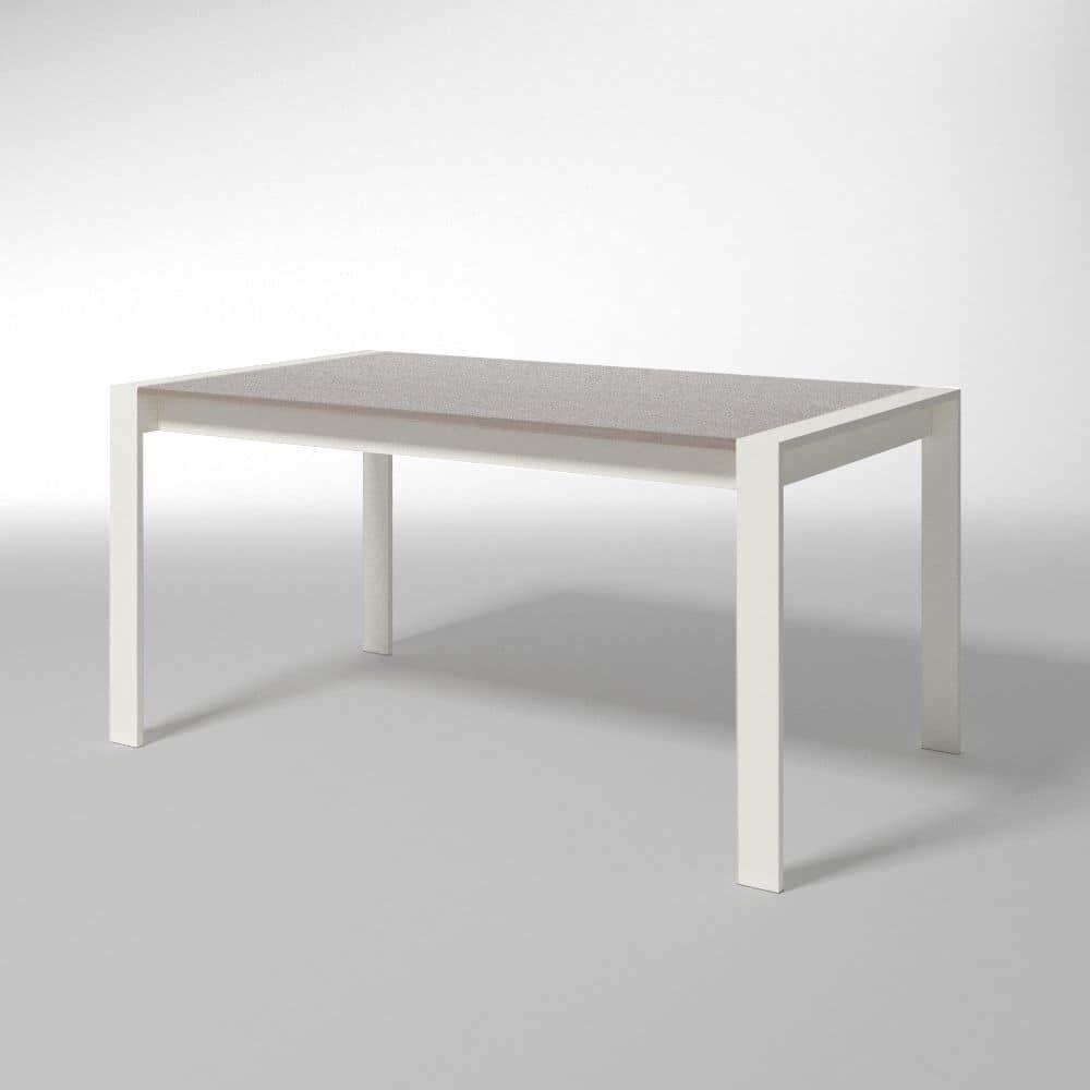 Tavolo rettangolare allungabile per cucine moderne idfdesign - Tavolo rettangolare allungabile ...