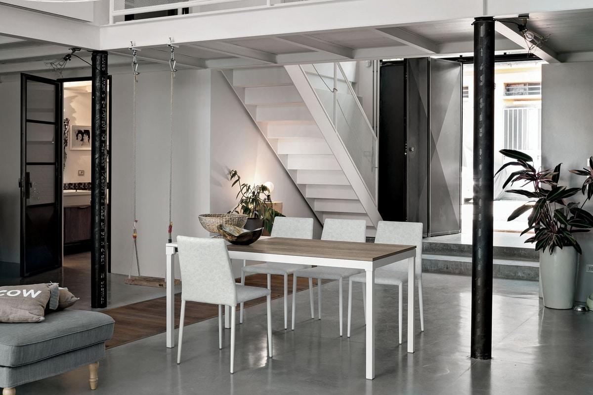 Cucina angolare penisola moderna for Tavolo ovale legno grezzo