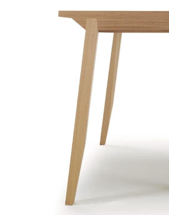 Tavolo allungabile con piano in legno per sala da pranzo idfdesign - Tavoli allungabili in legno ...