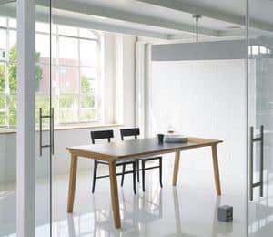 Pigreco, Tavolo allungabile con piano in legno, per sala da pranzo