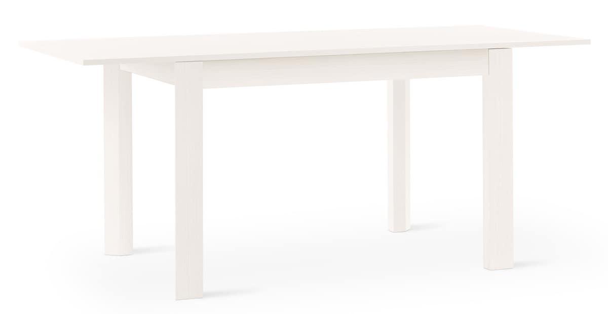 Tavolo allungabile in larice per ambienti classici e for Tavolo 70x110 allungabile