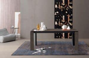 Prince, Tavolo rettangolare allungabile in legno per cucine
