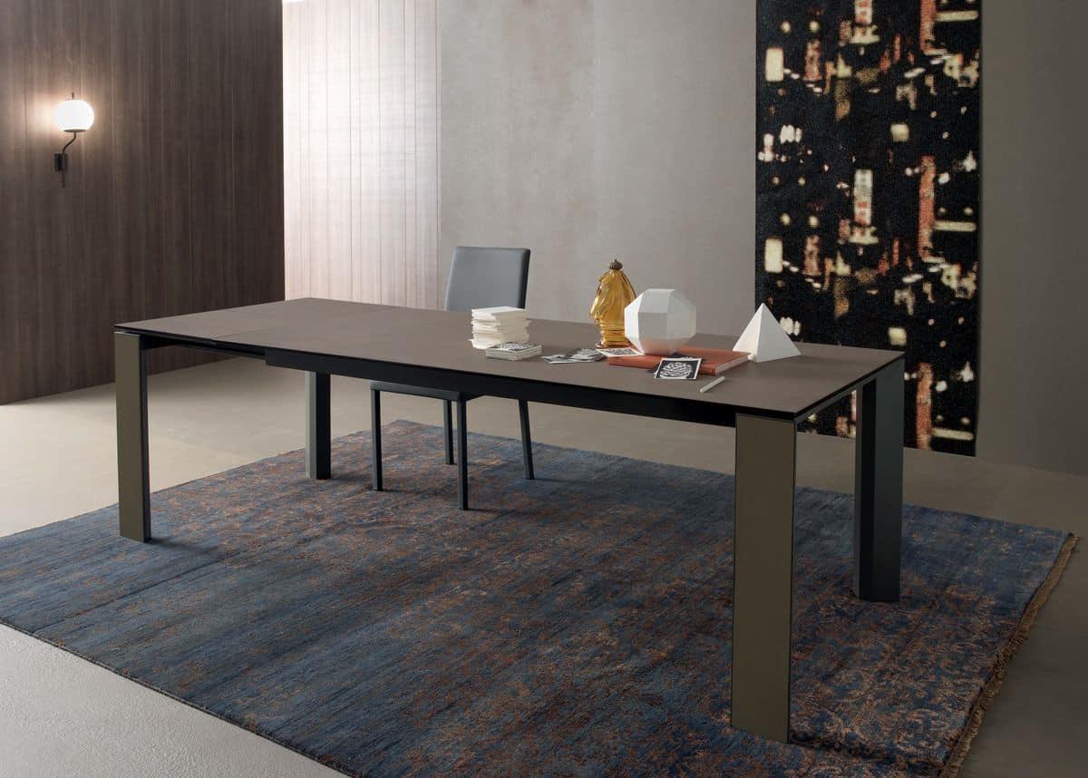 Tavolo rettangolare allungabile in legno per cucine for Tavoli allungabili