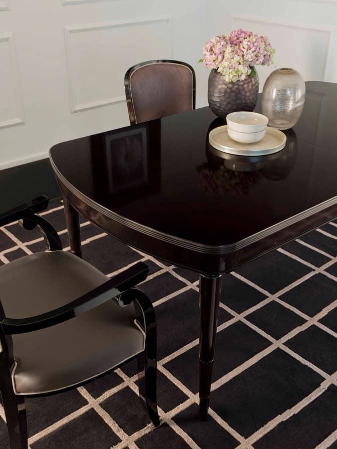Tavolo ovale con piano intarsiato allungabile idfdesign - Mondo convenienza sale da pranzo ...