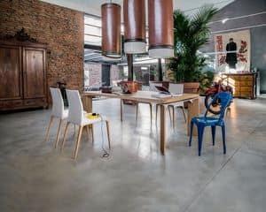 Tavolo da pranzo con piano tondo in vetro per ristorante for Tavoli estensibili