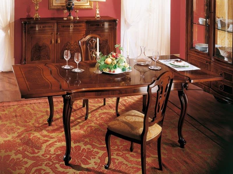 Tavolo Quadrato Classico.Tavolo Quadrato Classico Con Prolunga Per Sale Da Pranzo