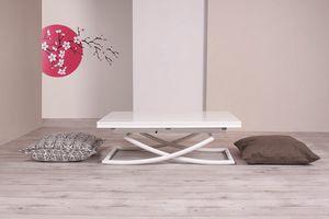 Sakura, Tavolino trasformabile con piano raddoppiabile