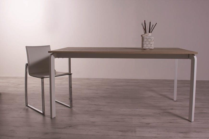 Tavoli Da Pranzo In Legno Allungabili : Tavolo da pranzo allungabile in legno effetto vetro idfdesign