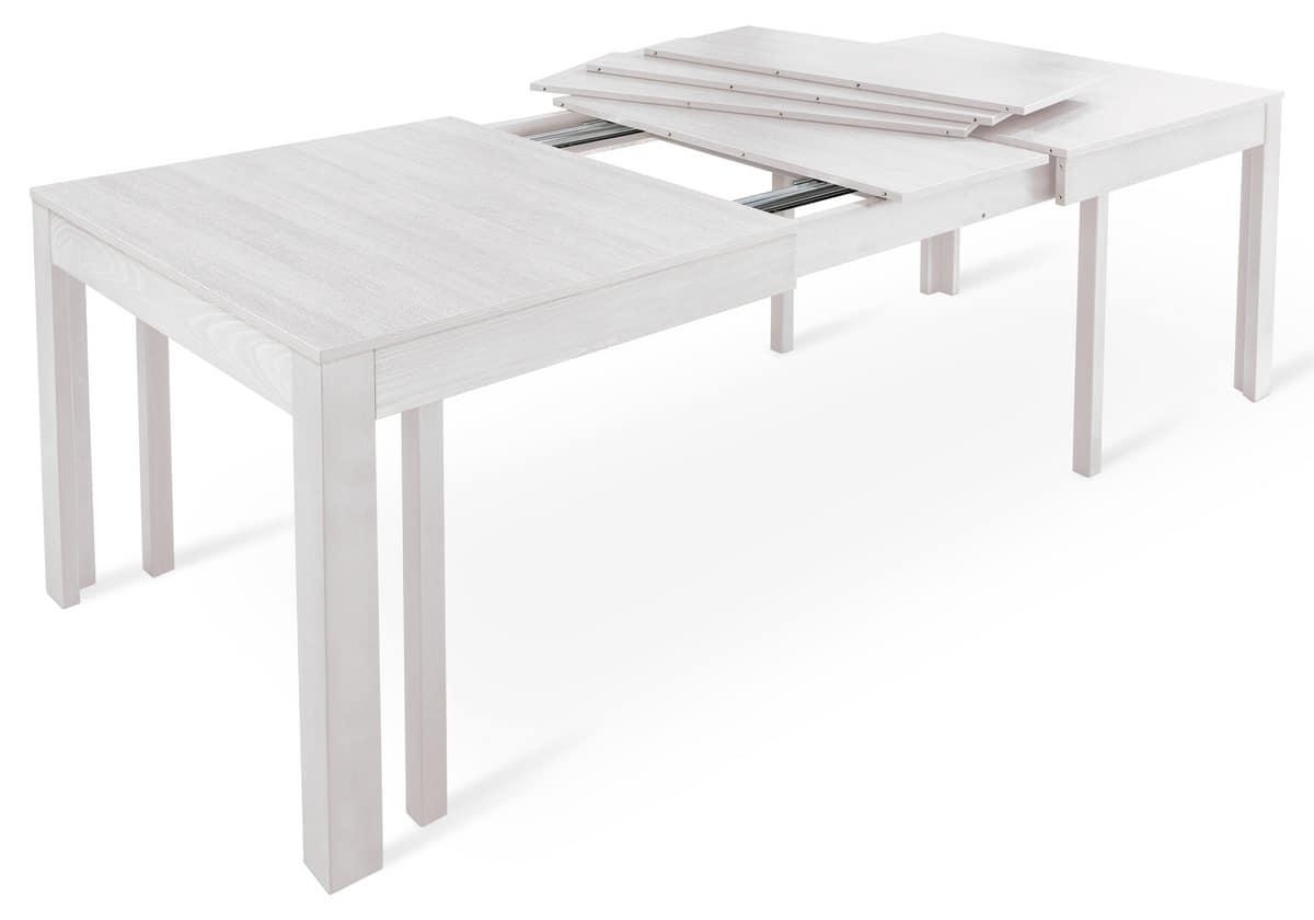 Tavolo rettangolare allungabile per ristoranti e mense for Tavolo rettangolare allungabile
