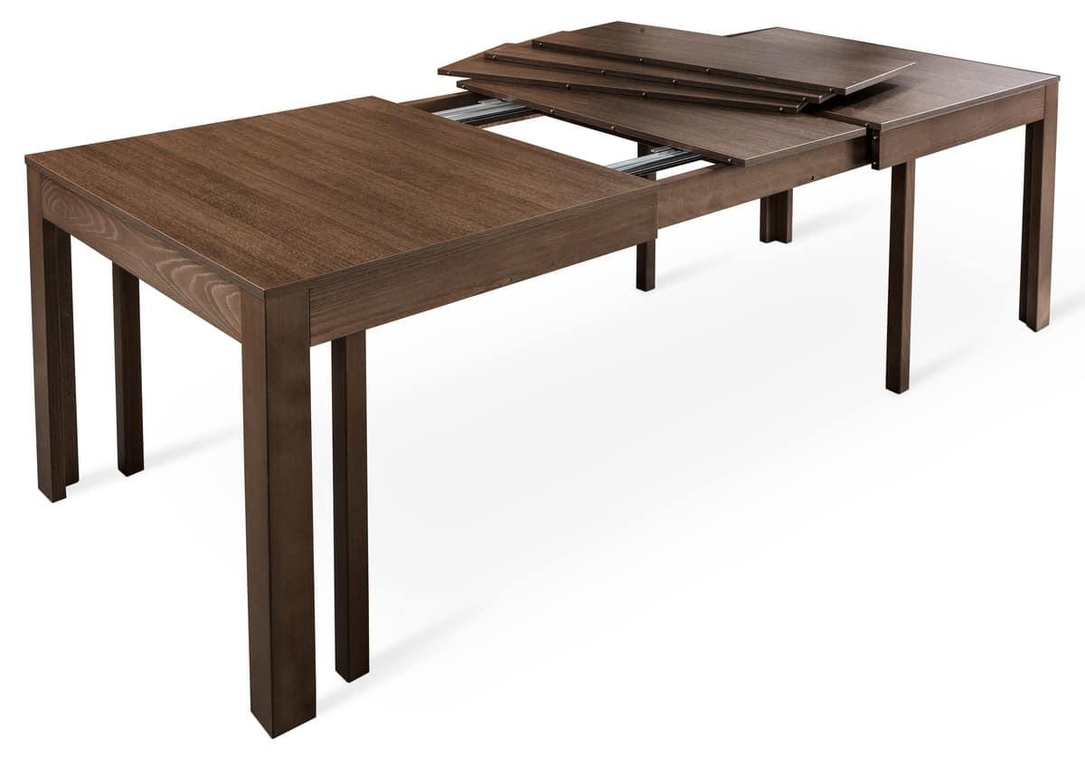 Tavolo rettangolare allungabile per ristoranti e mense for Tavoli estensibili in legno