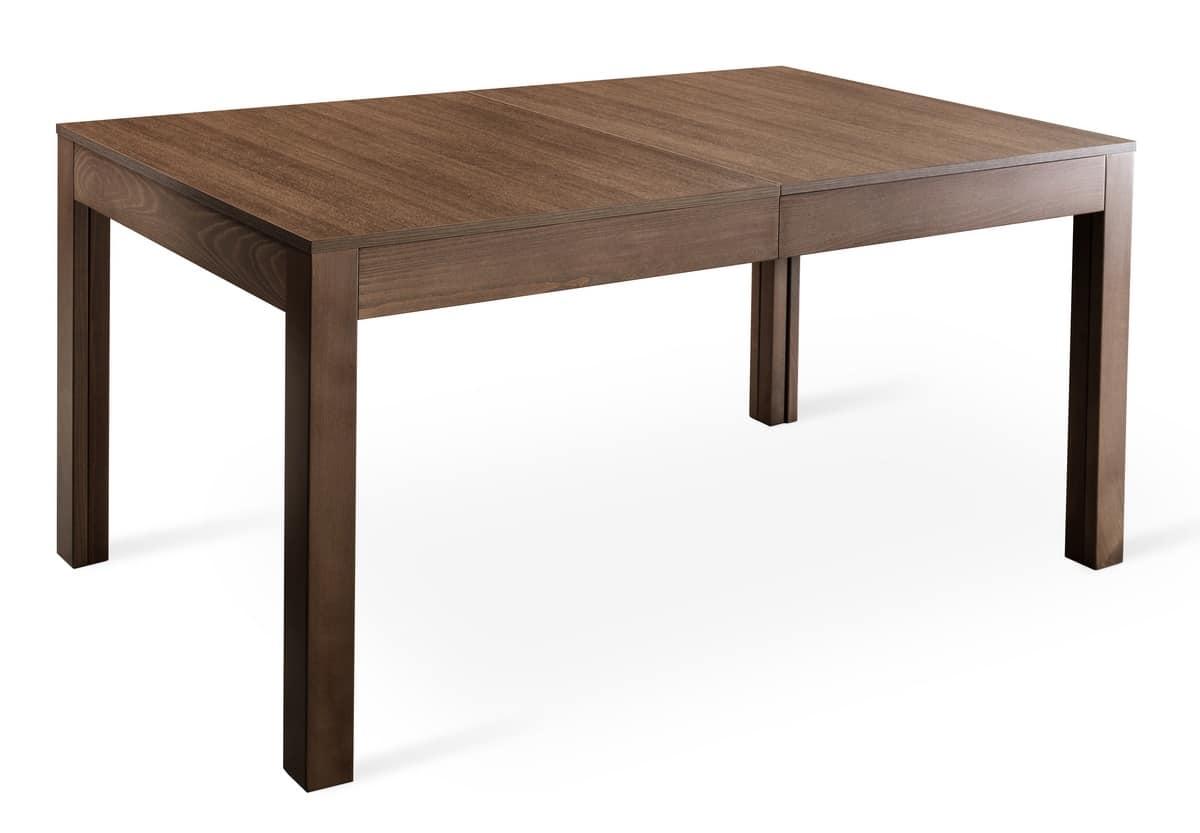 Tavolo rettangolare allungabile per ristoranti e mense for Tavoli allungabili