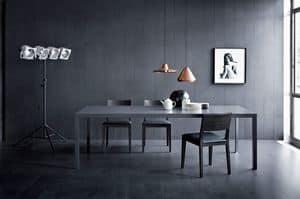 Soffio, Tavolo lineare per soggiorni, stile moderno