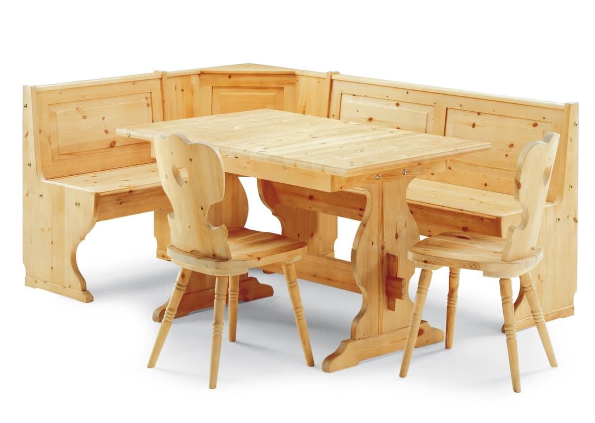 tavolo allungabile rustico fatto interamente in pino idfdesign. Black Bedroom Furniture Sets. Home Design Ideas