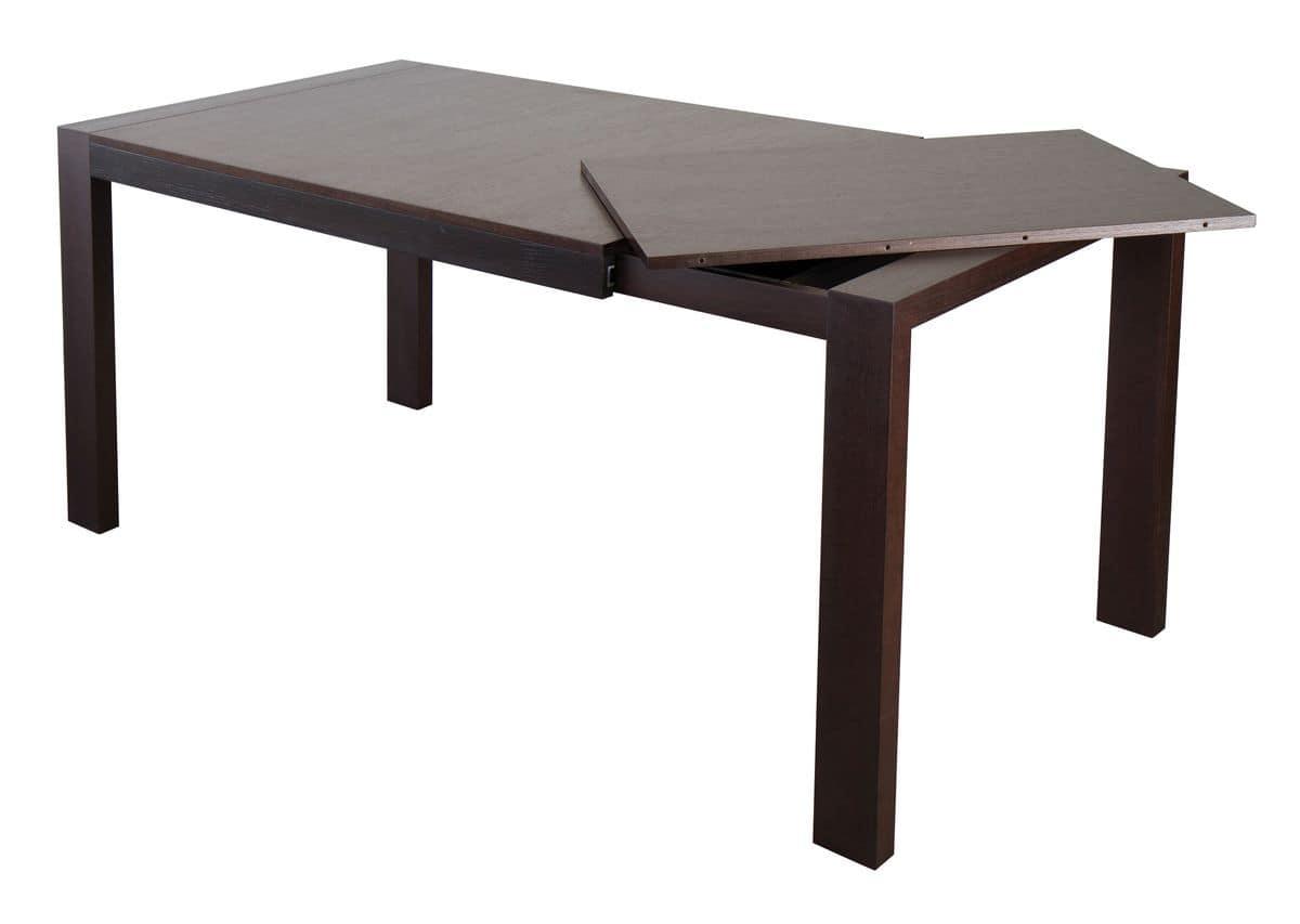 Tavolo Moderno Con Base In Legno Di Frassino Massiccio E Piano #2E2322 1200 853 Tavoli Da Pranzo In Legno Usati