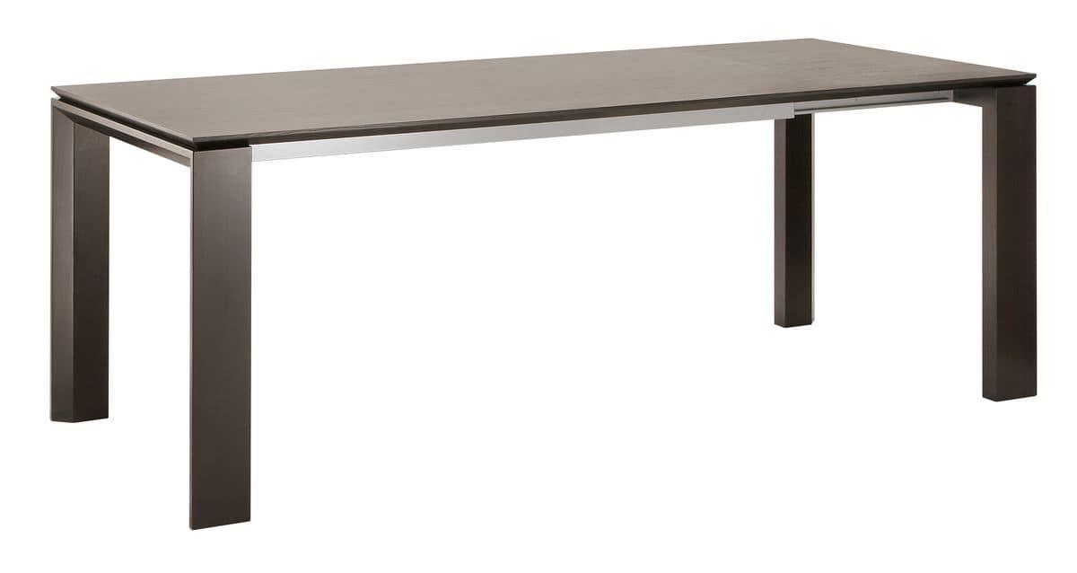 Tavolo allungabile in frassino per ambienti moderni for Tavoli legno moderni allungabili