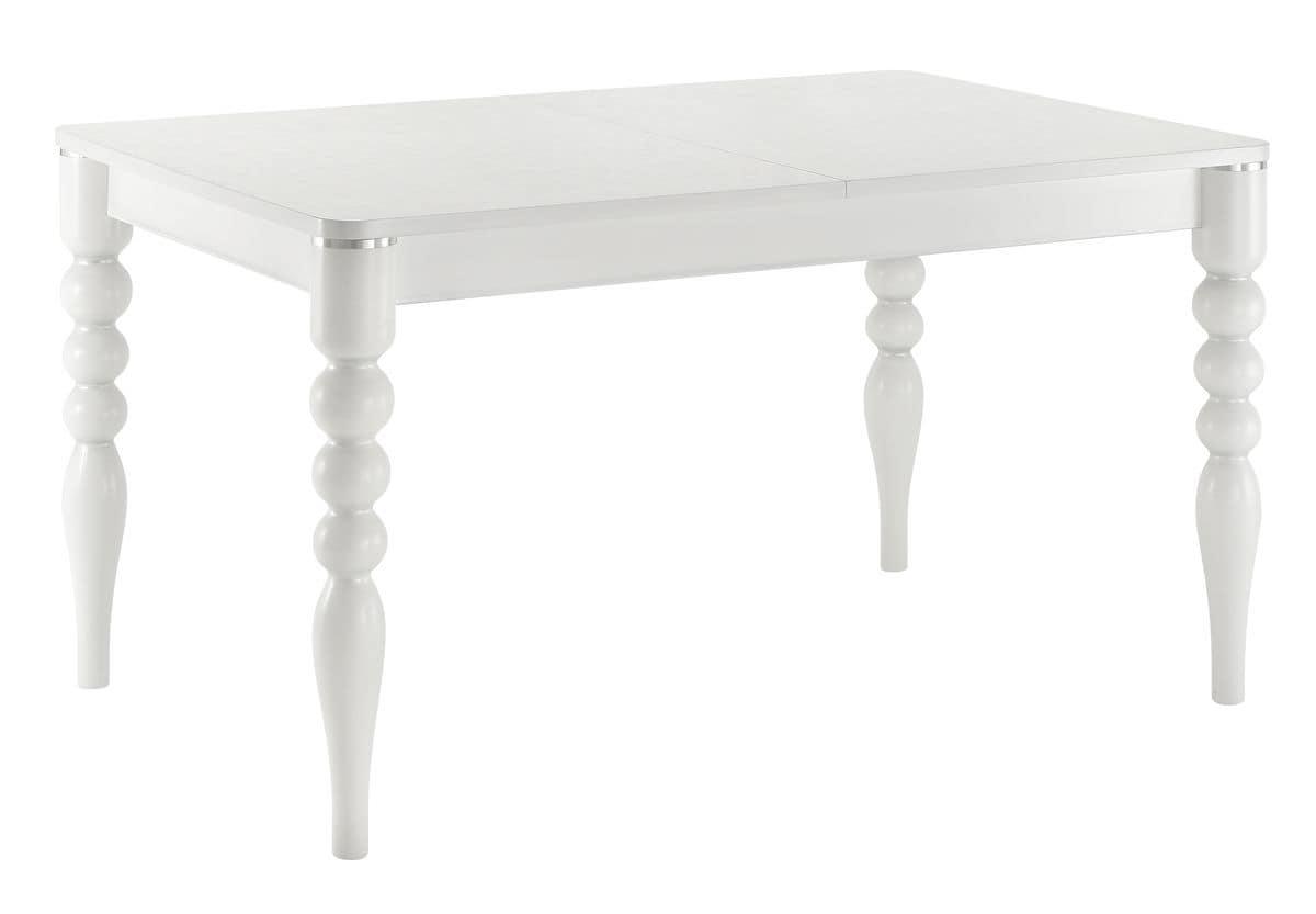 Tavolo rettangolare allungabile piano in laminato gambe for Amazon tavoli allungabili