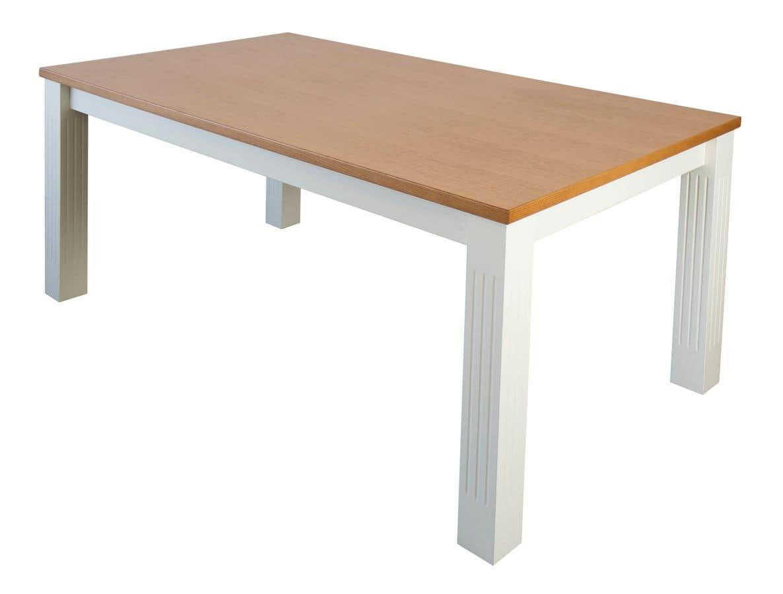 Tavolo allungabile rettangolare piano in laminato rovere for Tavoli in legno allungabili