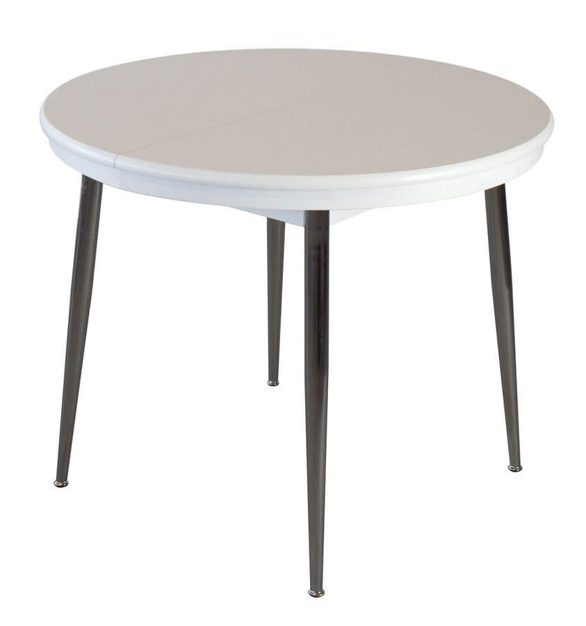 Tavoli tavoli allungabili moderni metallo legno tondi for Tavoli in legno moderni allungabili