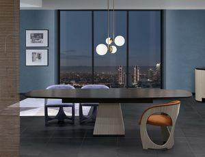 TA69K tavolo, Tavolo in legno con piano allungabile