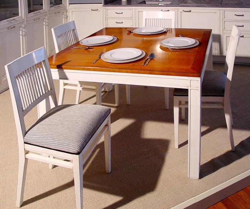 Tavolo allungabile per sala da pranzo classica idfdesign - Tavoli da pranzo allungabili ikea ...