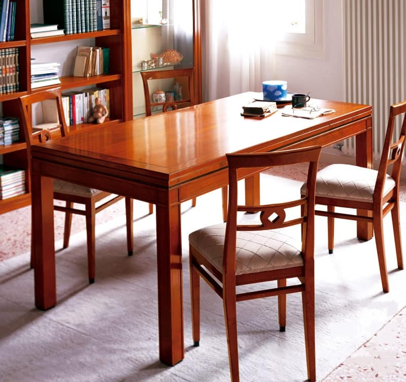 Tavolo allungabile per sala da pranzo classica idfdesign - Tavoli da sala allungabili ...
