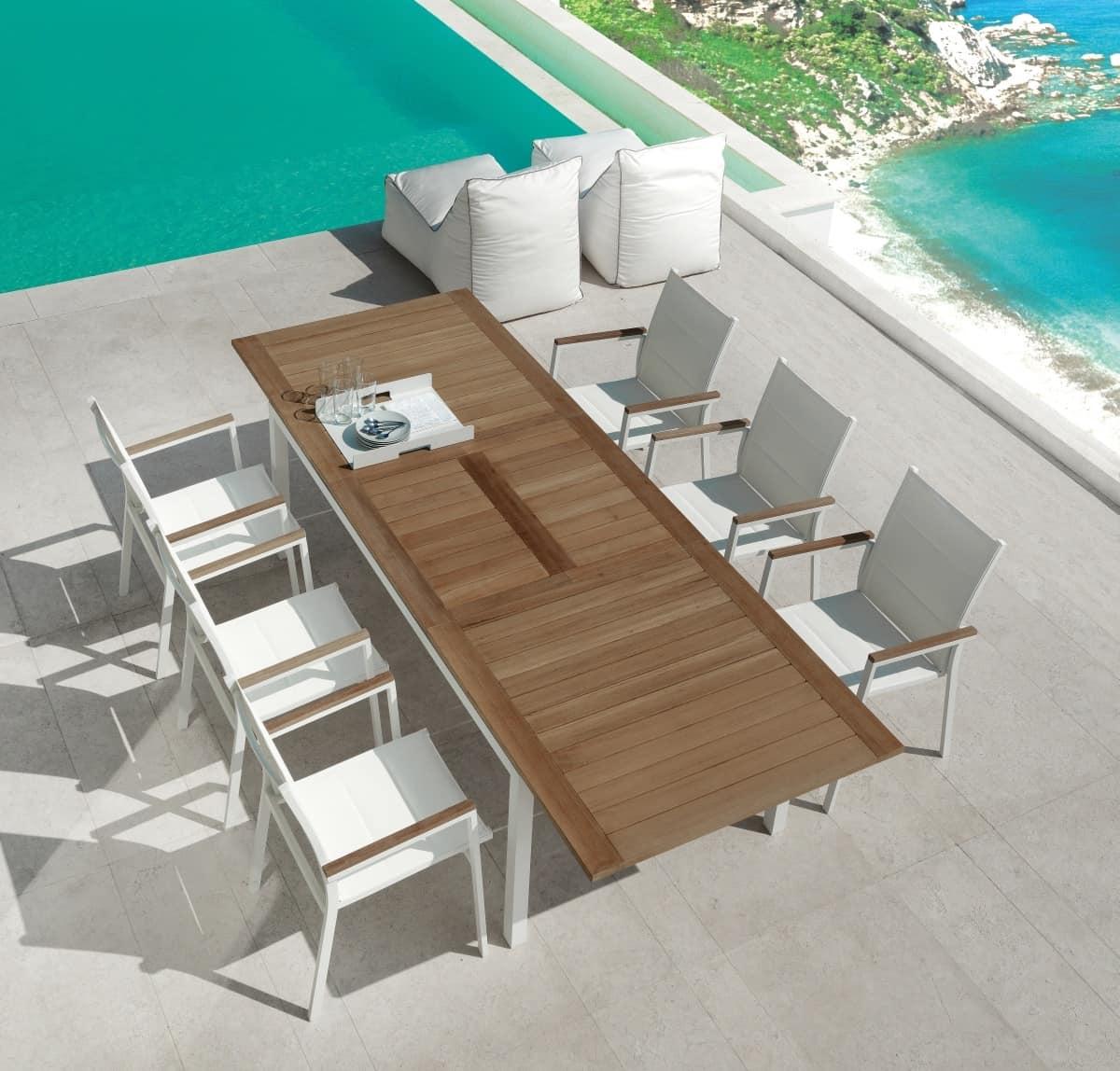 Tavolo da pranzo allungabile per esterno idfdesign - Arredi per esterni design ...