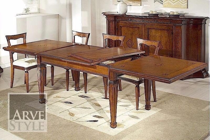 Tiziano tavolo, Tavolo classico con allunghe