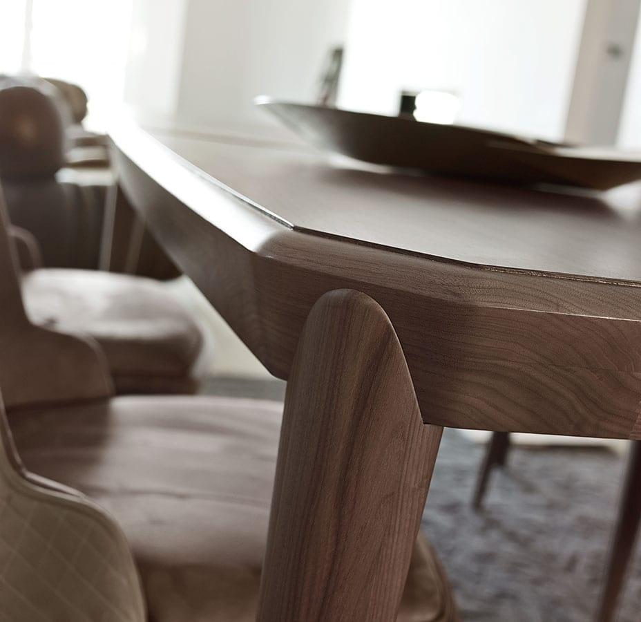 Tolomeo tavolo, Tavolo rettangolare allungabile piede spillo