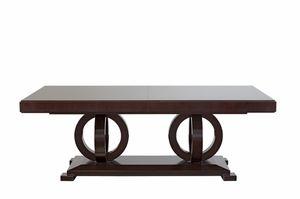 Tosca tavolo, Tavolo allungabile in legno, con piano impiallacciato