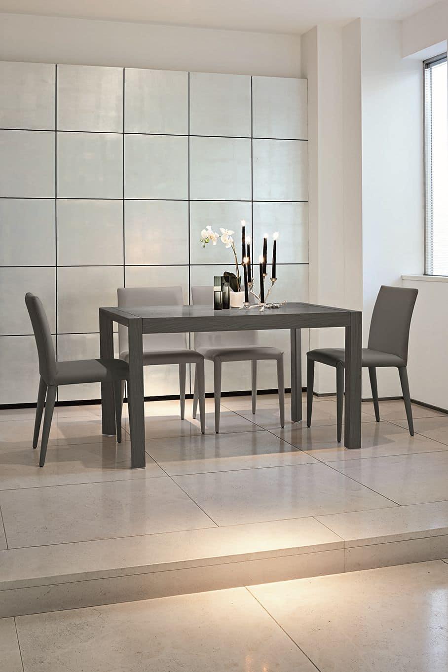 Tavolo allungabile in alluminio adatto per cucine idfdesign - Tavoli allungabili in legno ...
