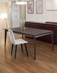 Venus, Elegante tavolo allungabile in legno di rovere