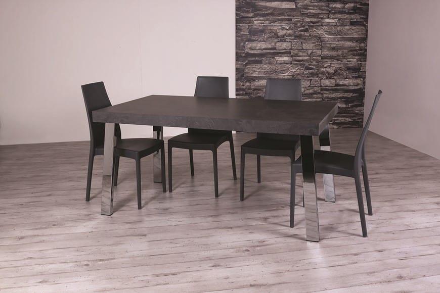 Tavolo da pranzo allungabile con piano in legno massiccio for Tavoli allungabili legno