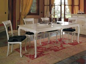 Villa tavolo, Tavolo classico, con preziosi intagli