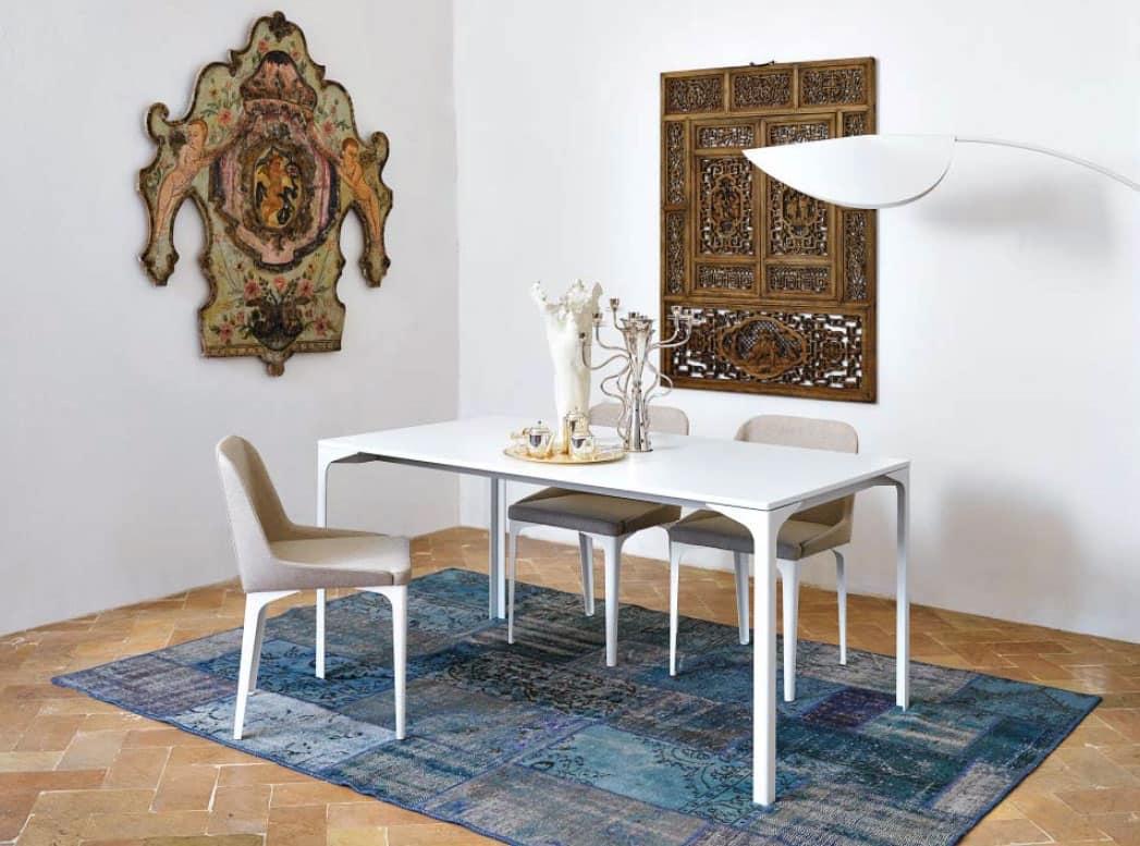 Tavolo con struttura metallica per cucina moderna | IDFdesign
