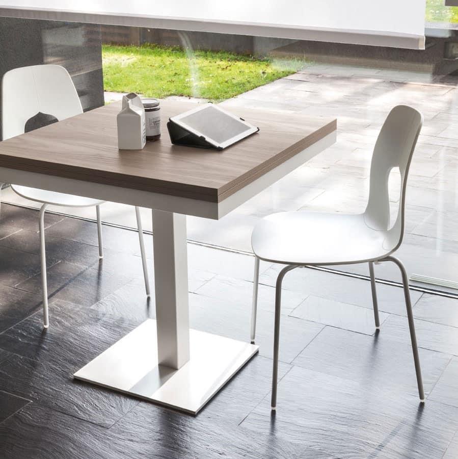 Tavolo allungabile in acciaio piano in melaminico for Amazon tavoli allungabili