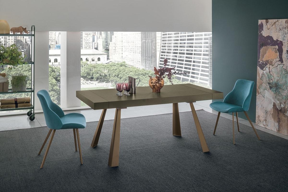 Tavolo allungabile con gambe in metallo | IDFdesign