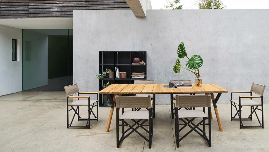 Link tavolo, Tavolo allungabile in acciaio, varie finiture, per esterno