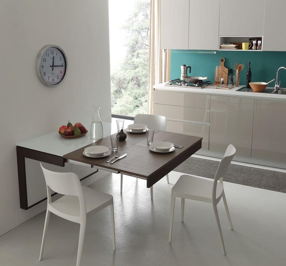Tavolo moderno ideale per appartamenti idfdesign for Tavoli in cristallo