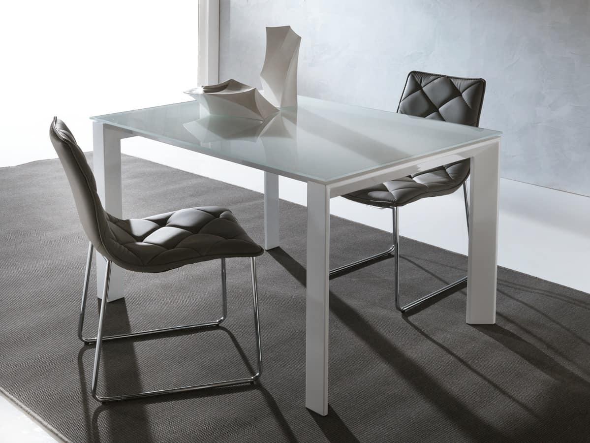 Tavolo allungabile moderno con gambe triangolari idfdesign