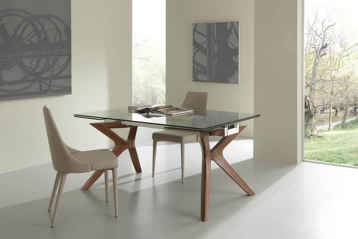 Gambe per tavolo in vetro top tavolo con piano vetro for Gambe per tavoli