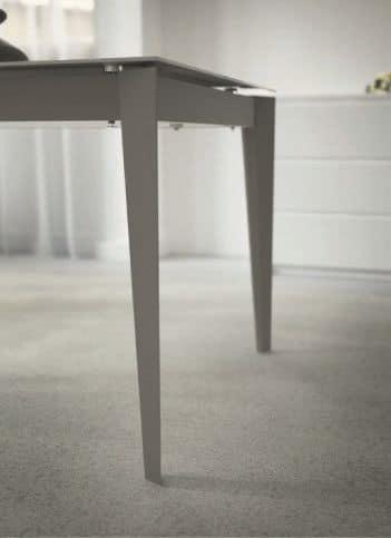 Tavolo allungabile in acciaio e vetro per cucine moderne | IDFdesign