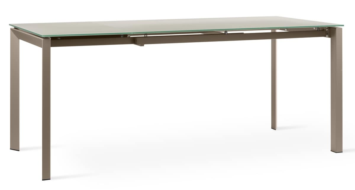 Tavoli Vetro Allungabili Design: Tavoli allungabili design moderno metallo ve...